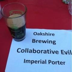 112. Oakshire Brewing – 2010 Collaborative Evil Imperial Porter Draft