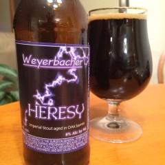 681. Weyerbacher – Heresy Imperial Stout aged in Oak Barrels